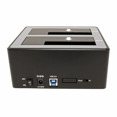 HDD/SSD docking station USB3.0 / 2x SATA  2.5+3.5 HDD, Copy-function, čierny JMS561U